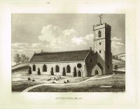 Old Antique Print St Peter Wood Guernsey Channel Isles c.1815
