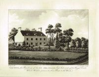 Old Antique Print Caches Residence John Jeremie Guernsey Channel Isles c.1815