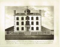 Old Antique Print Grand Bosq Residence Eleazar le Marchant Guernsey Channel Isles