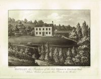 Old Antique House Print Havelet Residence William le Marchant Guernsey Channel Isles c.1815