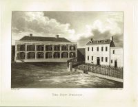 Old Antique Print New Prison Guernsey Channel Isles c.1815